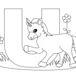Learn with fun Alphabet 20  Alphabet coloring pages