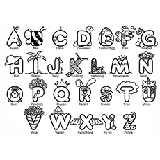 Alphabet printable page