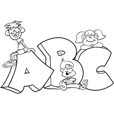 colorful ABC coloring page
