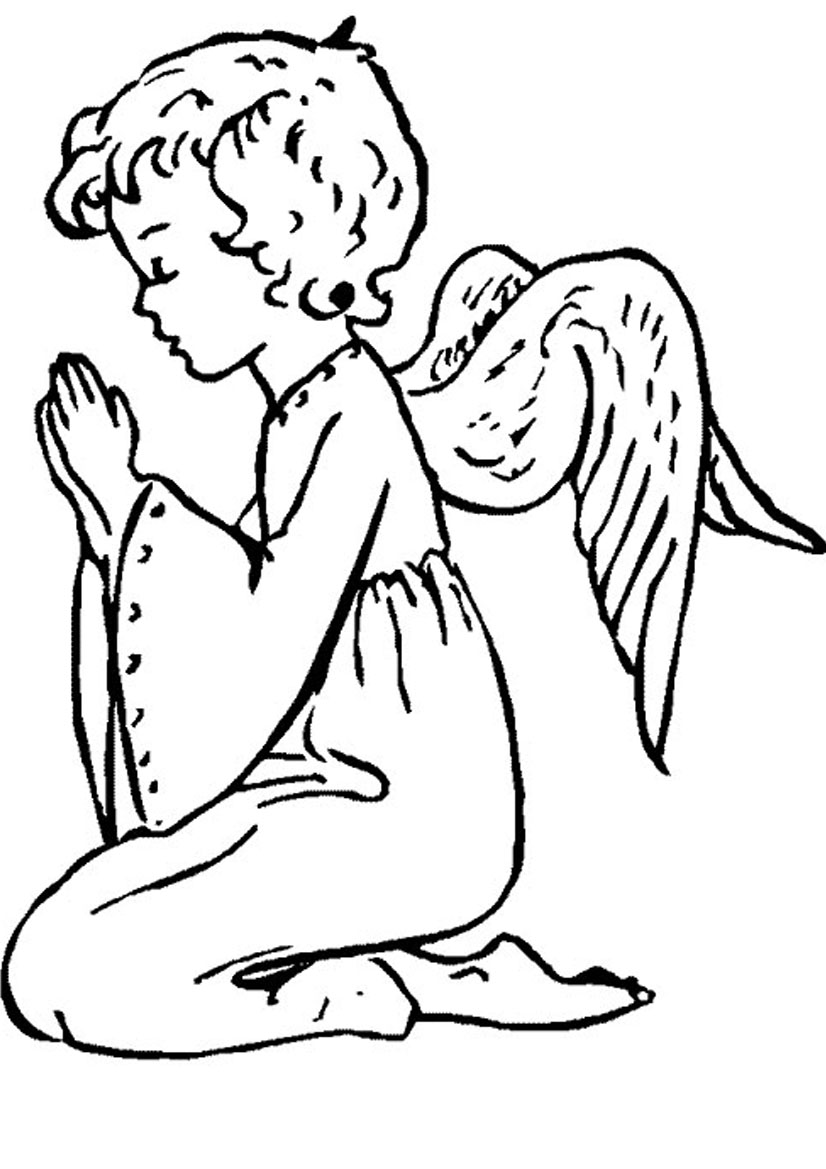 Angel coloring page