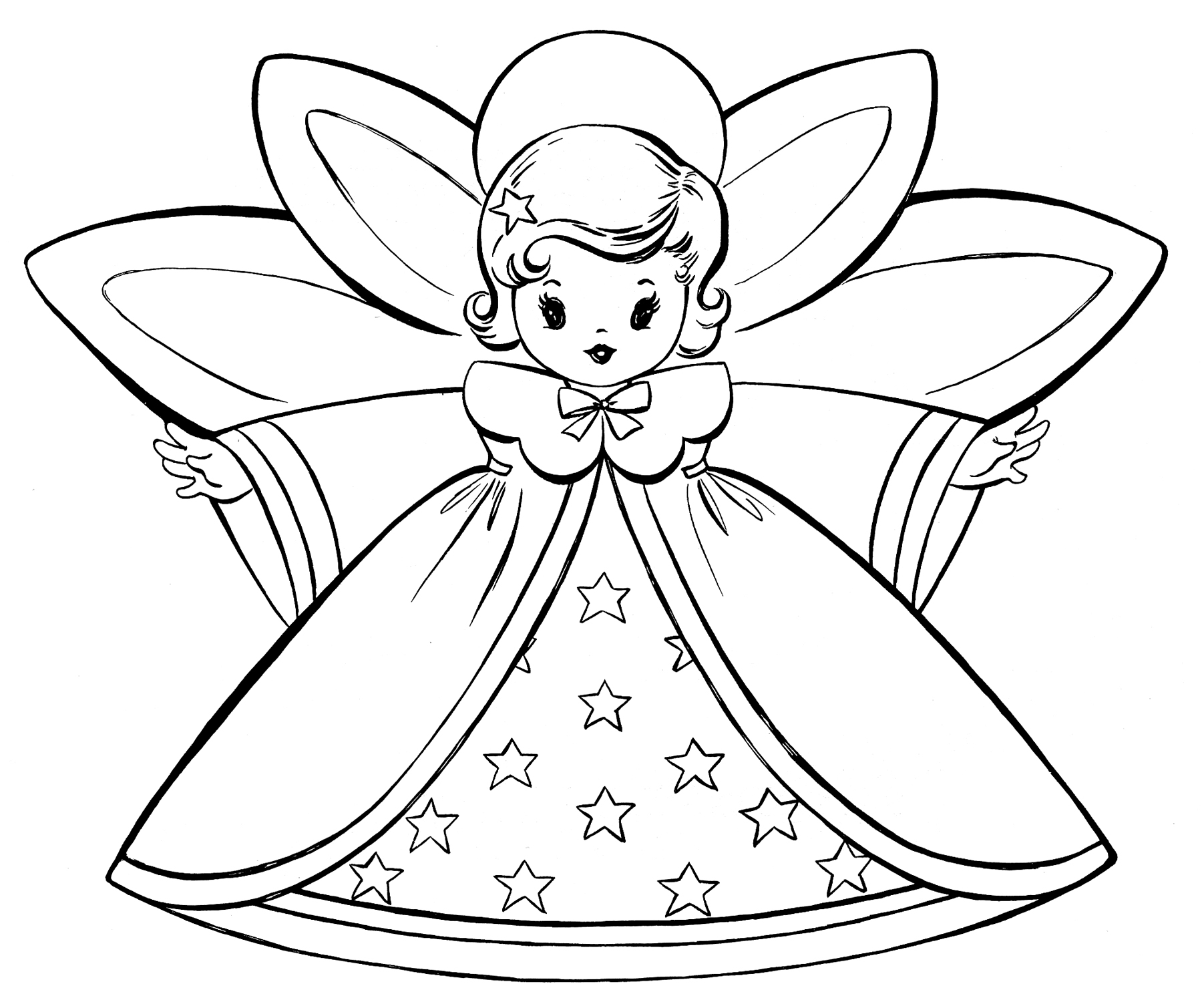 tiny Angel coloring page