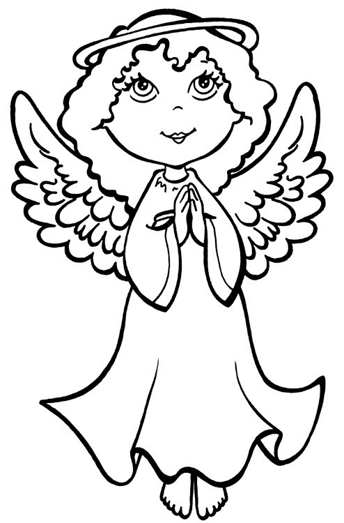 charming Angel coloring page