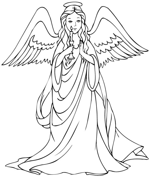 pretty Angel coloring page