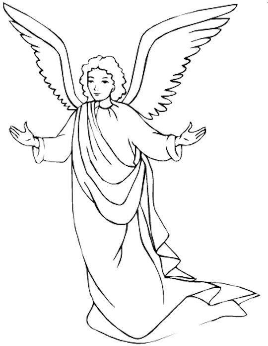 holy Angel coloring page