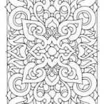 Intricate yet attractive paintings of adult flower 20 adult flower coloring pages