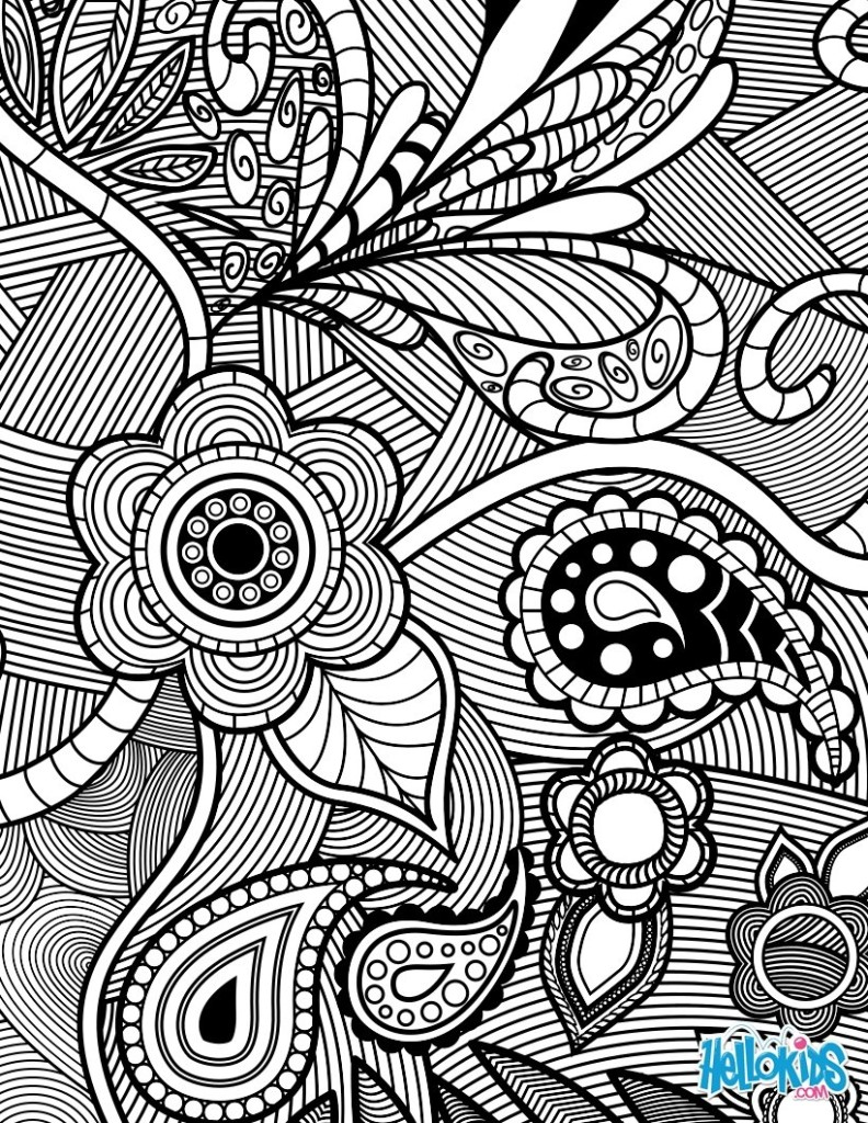 superb adult flower coloring page