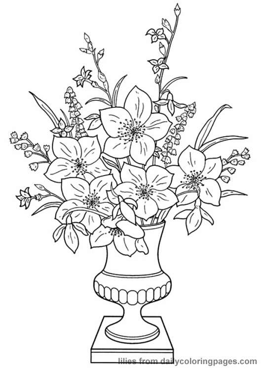 adult flower coloring page