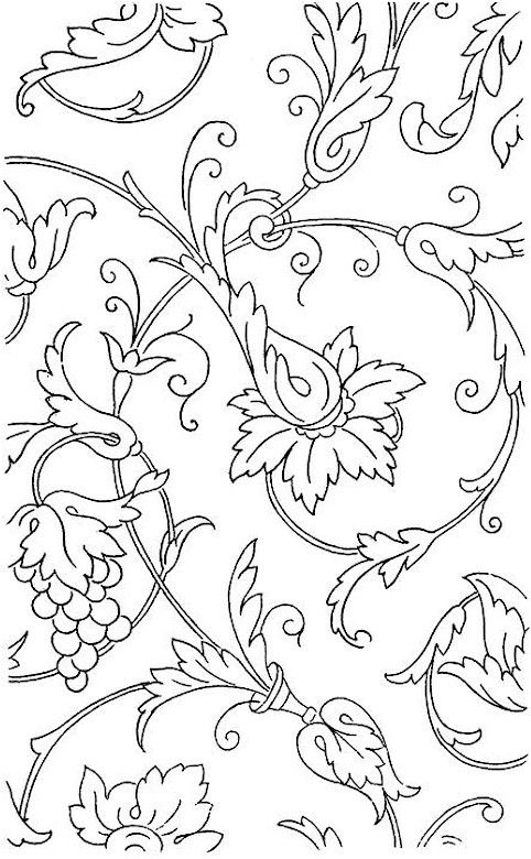 adult flower printable page