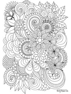 magnificent adult flower coloring page