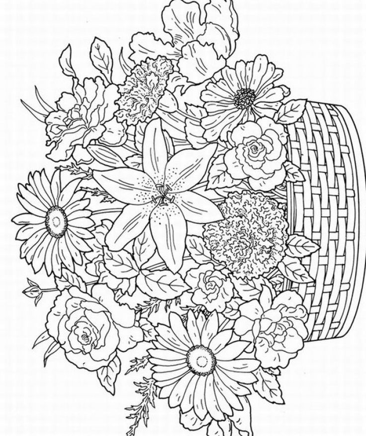 adult flower with flower basket