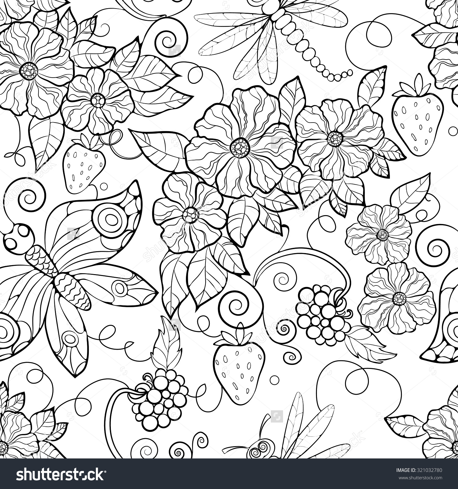 Free Printable Adult Coloring Pages Flower Coloring Coloring Pages