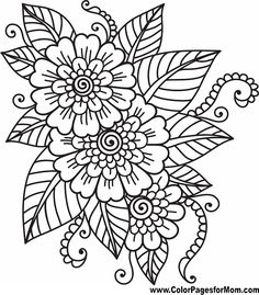 amazing adult flower coloring page