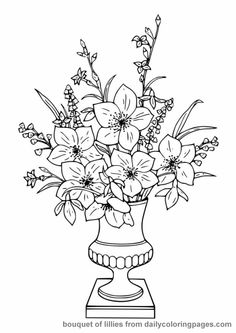 adult flower with flower vase