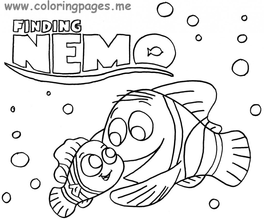 Nemo and Marlin coloring page