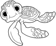 Squirt Happily Smiling At You Coloring Page