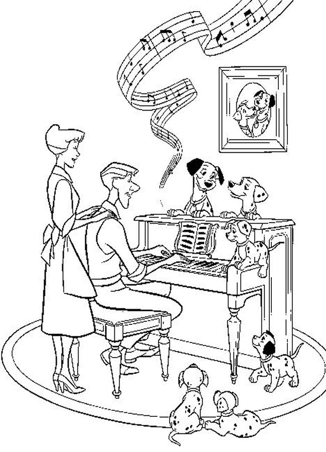 Outstanding journey of Puppies 17  101 Dalmatians coloring pages