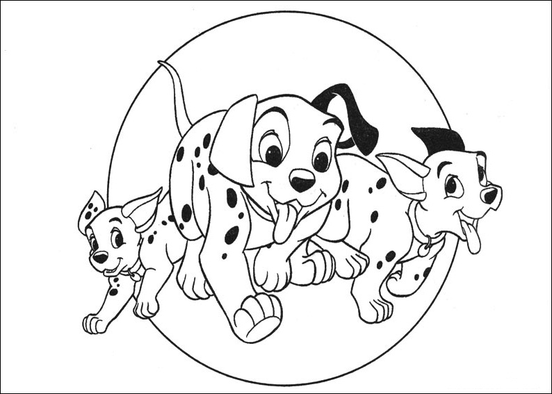 101 Dalmatians coloring pages 2 Free Printables