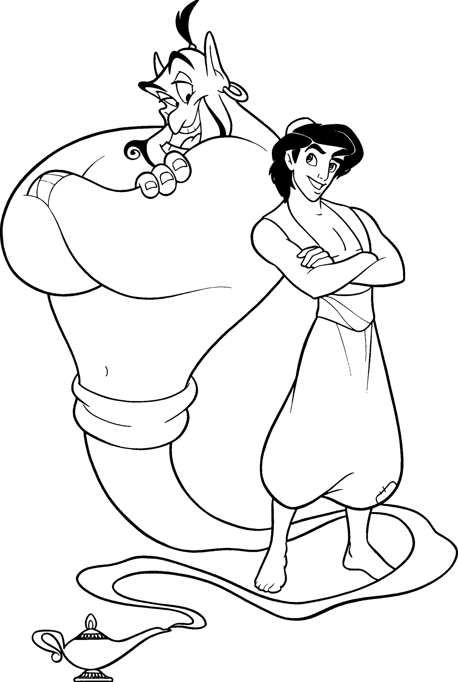 genie magic coloring pages | Magical world of Arabian Aladdin 18 Aladdin coloring pages ...