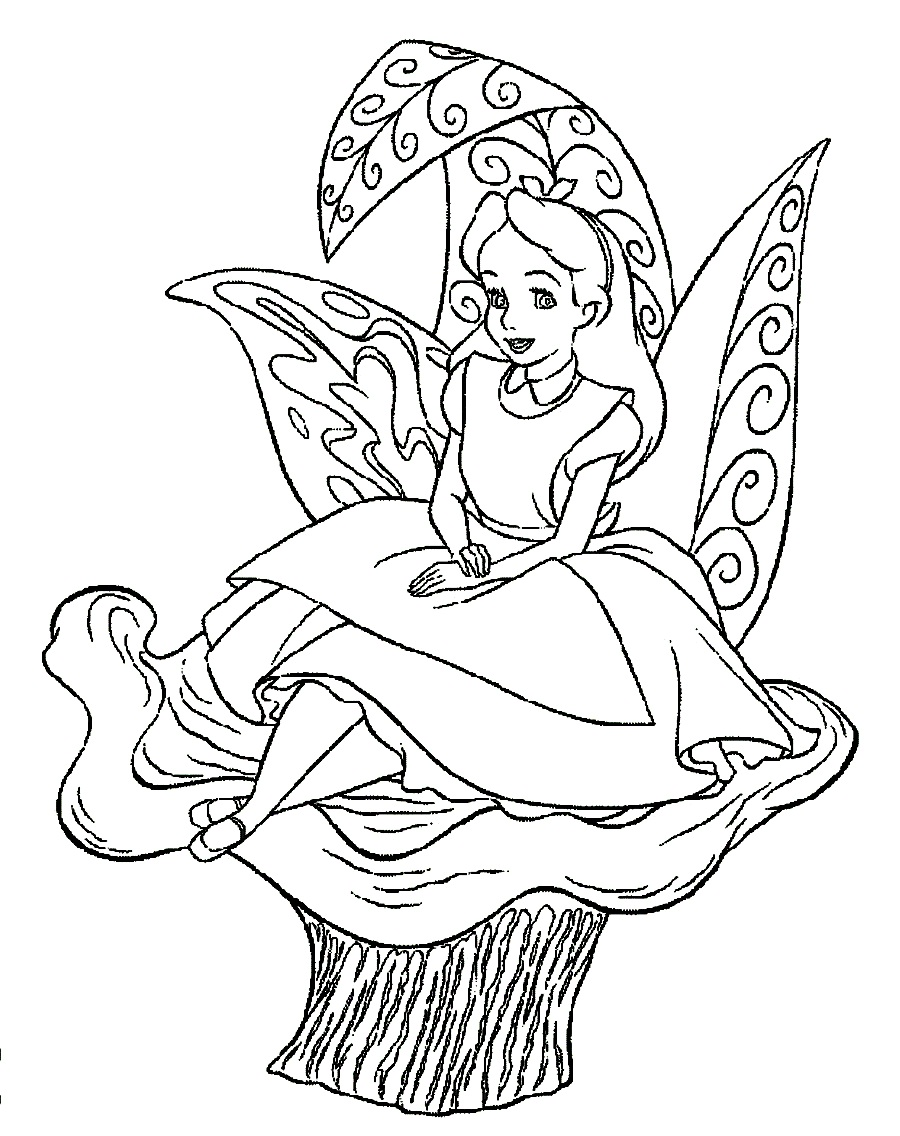 Alice printable coloring page