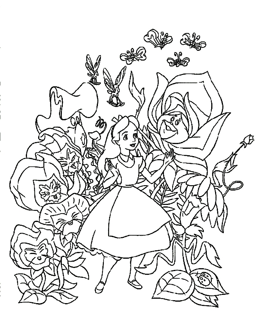 Alice In Wonderland Coloring Pages Pdf : Fascinating yet mysterious adventure of alice in