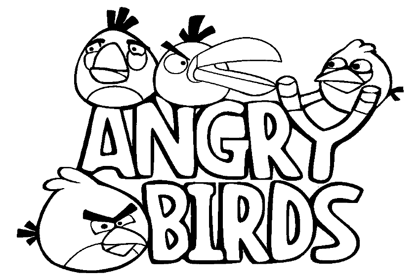 Ostentatious array of Rocking Angry Birds 20 Angry Birds coloring pages for kids