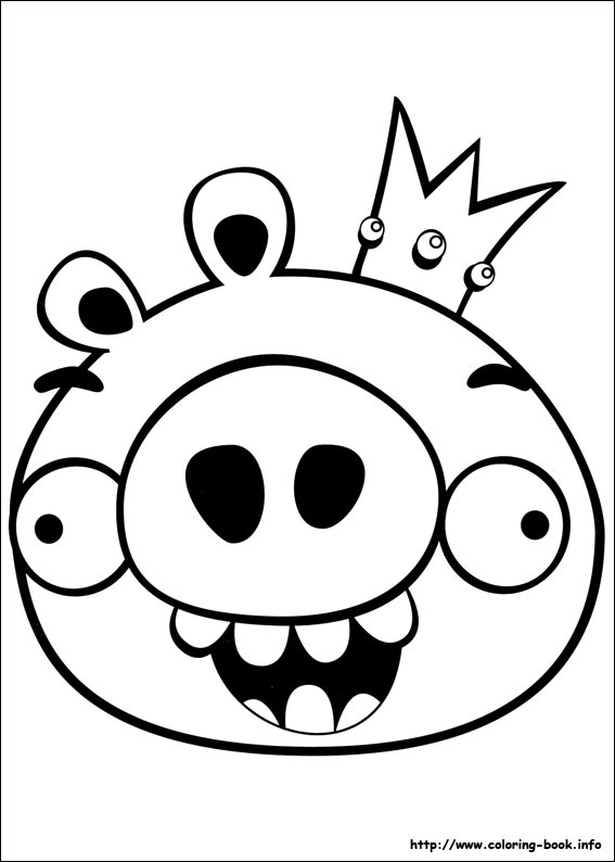 Angry Bird Coloring Page Funny Pig
