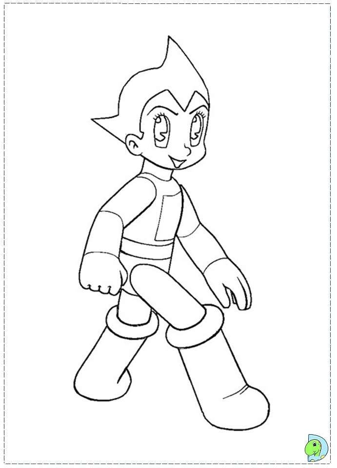 Astro Boy Coloring Pages 4 Free Printables
