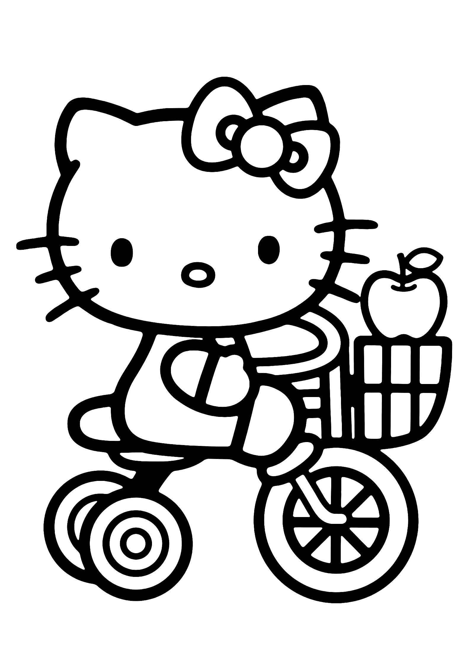 Baby Hello Kitty Coloring Page Prints