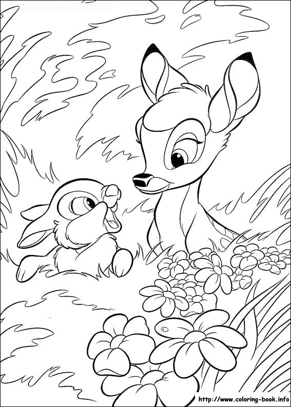 Bambi with Thumperchatting