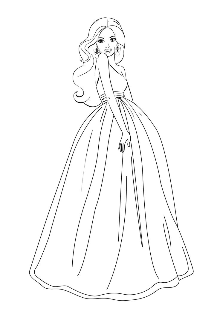 Barbie printable coloring page