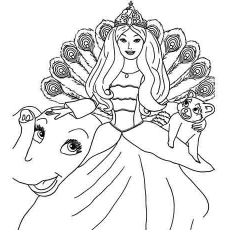 Sparkling Barbie Image coloring page