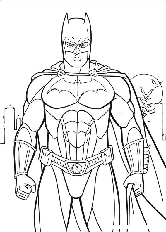 angry Batman coloring page