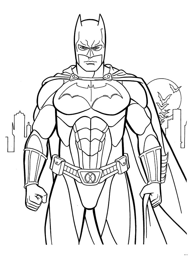 Batman coloring printable page
