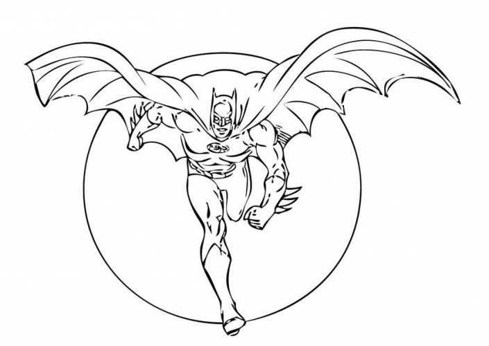 Free Coloring Pages Lego Batman Printable Full Image For