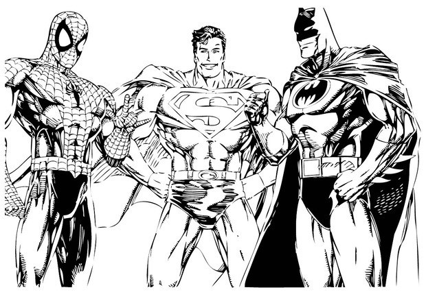 Batman  with other super heros