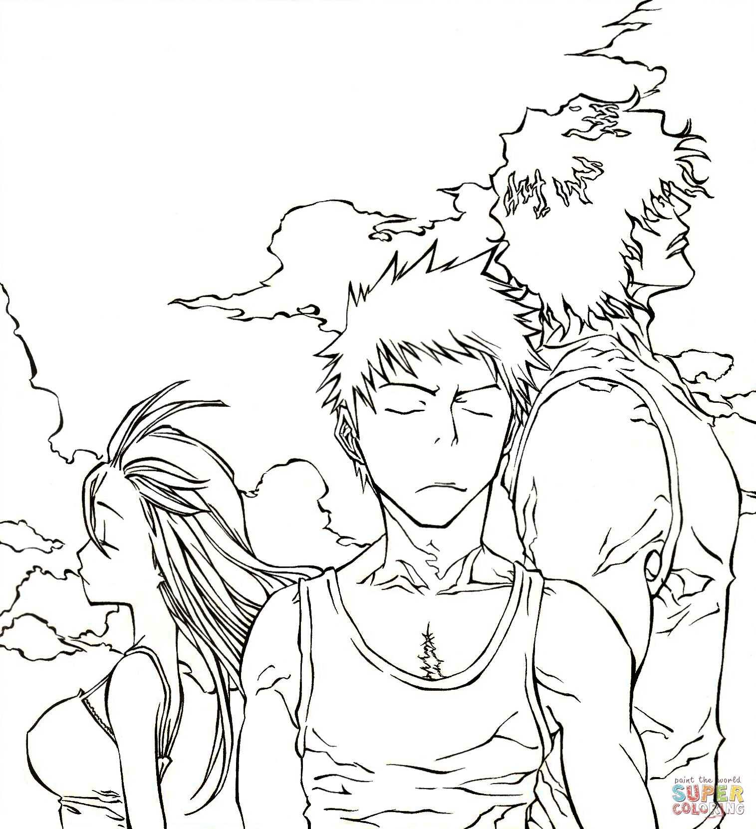 Bleach the team coloring page