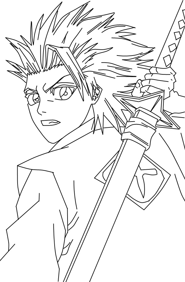 bleach coloring book pages - photo#16