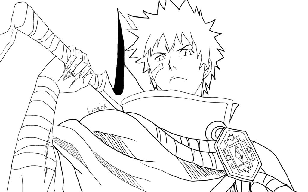 Bleach coloring pages 7 free printables for Ichigo coloring pages