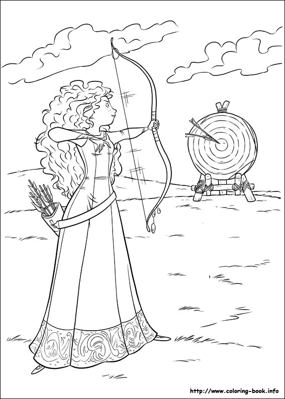 Princess Merida Practicing her aim