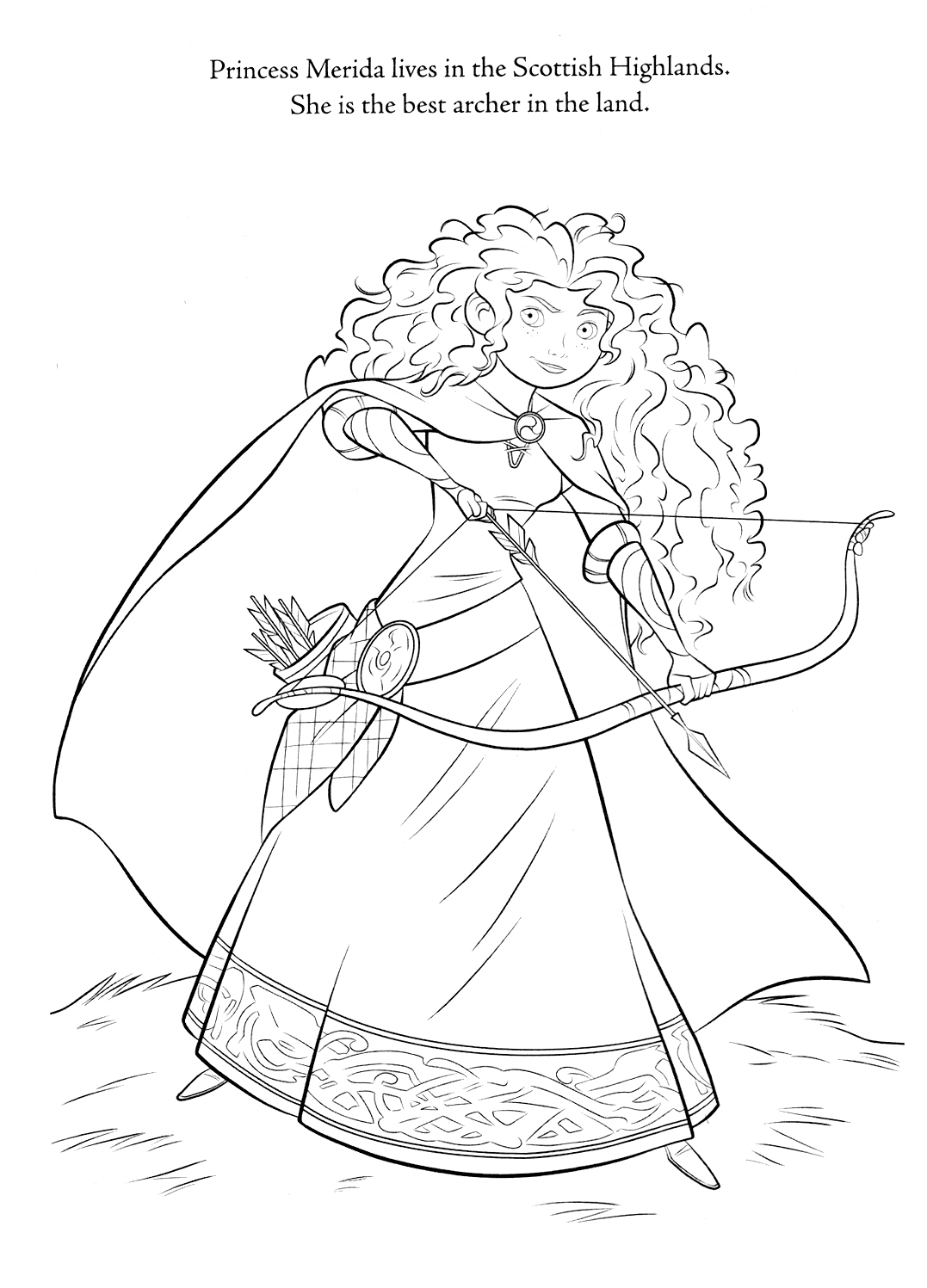 Princess Merida printable page