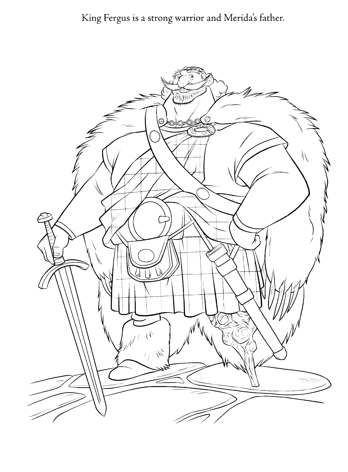 King Fergus coloring page