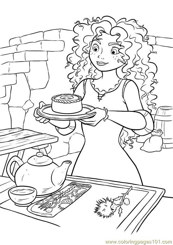 Merida making tea coloring page
