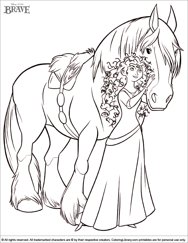 Story of a courageous girl brave 22 brave coloring pages for Coloring pages merida