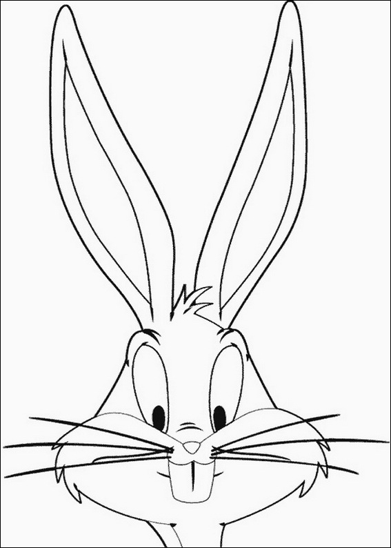 Bugs Bunny peeping coloring page