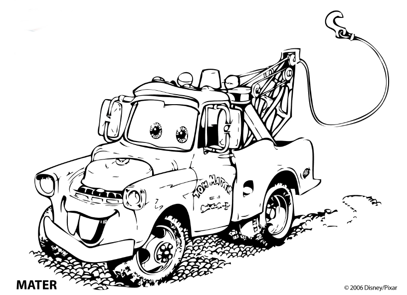 Crazy Mater Coloring Page