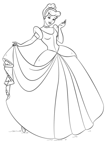 enchanted love story of a simple girl cinderella 17 cinderella coloring pages - Coloring Pages Princess Cinderella