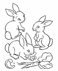 little rabbits coloring page