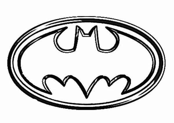 Batman logo printable coloring page