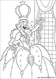 the queen Cinderella coloring page