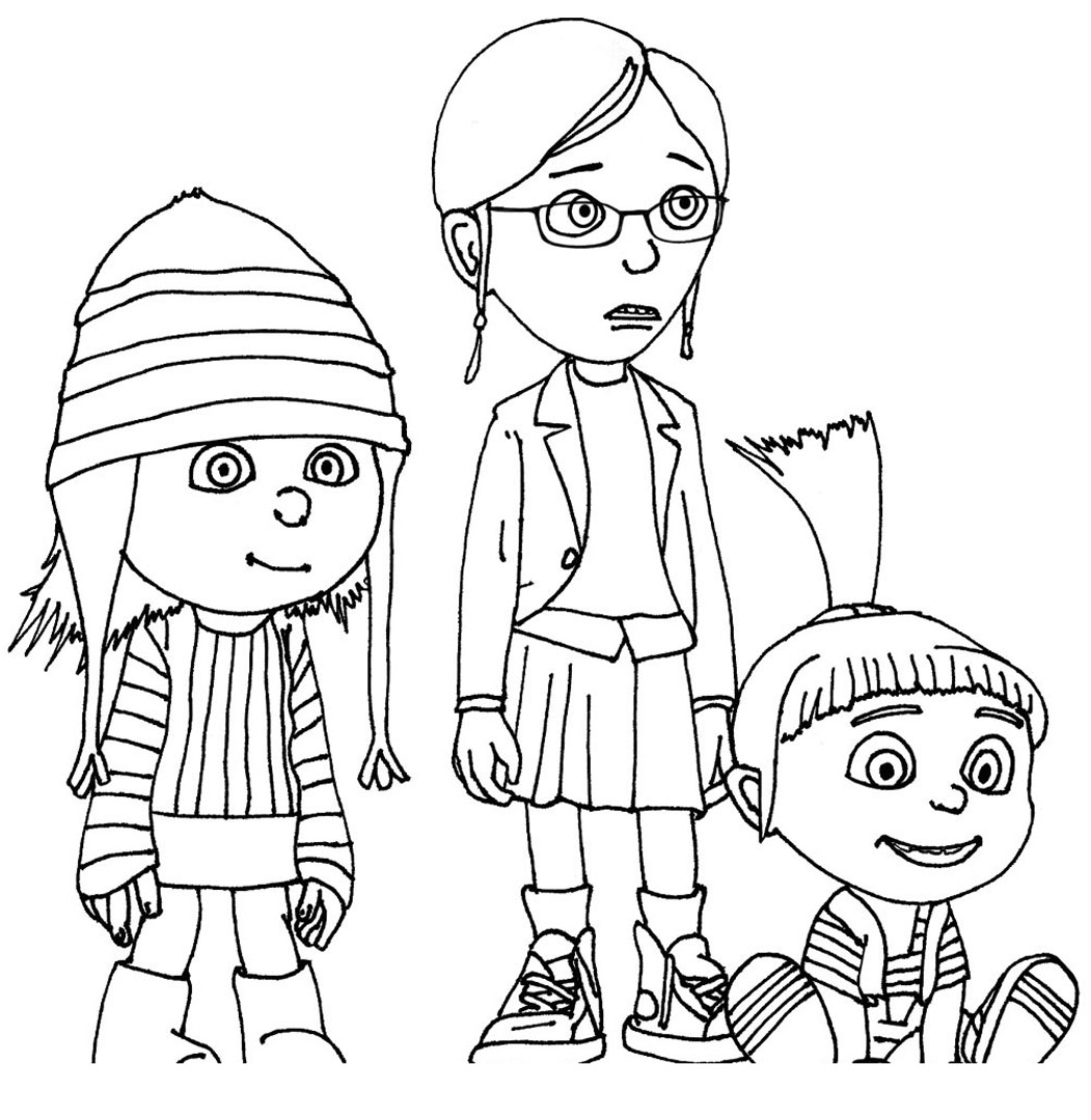 Adorable story of a Man and his foster kids Despicable Me 23 Despicable Me coloring pages